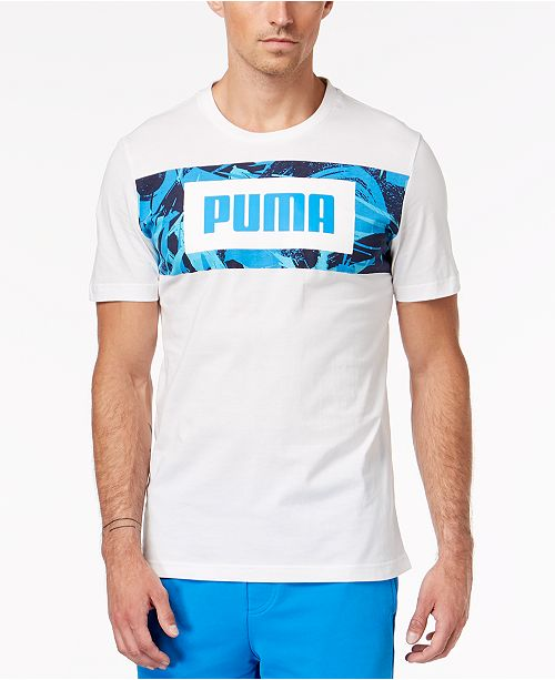 fba517ab076f Puma Men s Rebel Printed-Logo T-Shirt   Reviews - T-Shirts - Men ...