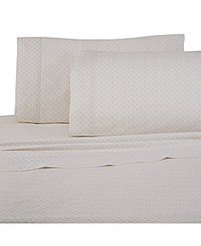 Under The Canopy Printed Brushed Cotton 4-Pc. Queen Sheet Set