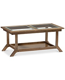 Ryszard Glass-Top Coffee Table, Quick Ship