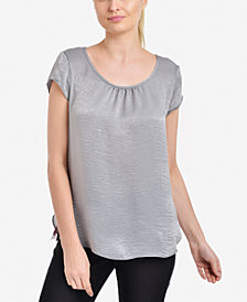 NY Collection Scoop-Neck Top