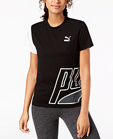 Puma Loud Cotton Colorblocked T-Shirt