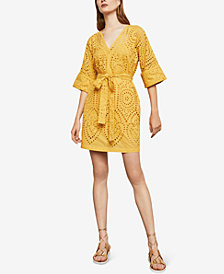 BCBGMAXAZRIA Eyelet Embroidered Dress