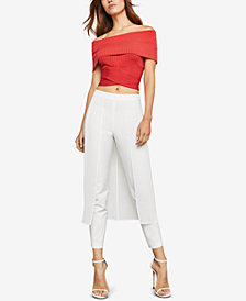 BCBGMAXAZRIA Ribbed Off-The-Shoulder Top