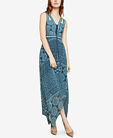 BCBGMAXAZRIA Asymmetrical Maxi Dress