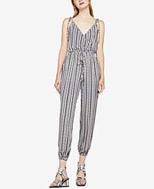 BCBGeneration Striped Surplice Jumpsuit