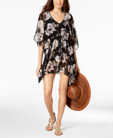 Calvin Klein Floral-Print Cover-Up