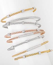 Cubic Zirconia Stackable Bracelet Jewelry Collection