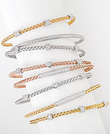 Giani Bernini Cubic Zirconia Stackable Bracelet Jewelry Collection