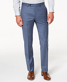 Tommy Hilfiger Men's Modern-Fit TH Flex Stretch Blue/Gray Twill Suit Pants