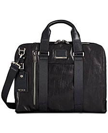 Tumi Men's Alpha Bravo Aviano Slim Leather Briefcase