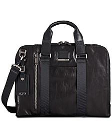 Tumi Men's Alpha Bravo Aviano Slim Leather Briefcase