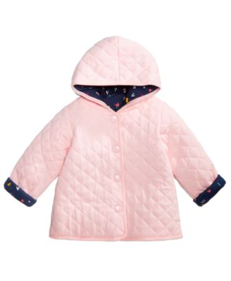 Baby Girls ABC Quilted Reversible Cotton Jacket, Created for Macy's