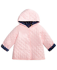 First Impressions Baby Girls ABC Quilted Reversible Cotton Jacket, Created for Macy's