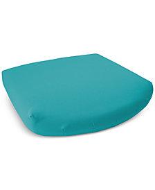 18x17 Teal Seat Cushion, Quick Ship