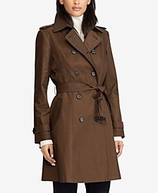 Belted Water Resistant Trench Coat, Created for Macys, Created for Macy's