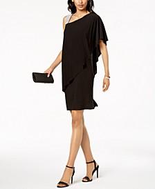 One-Shoulder Rhinestone-Embellished Dress