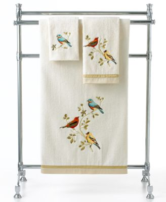 Bath Towels, Gilded Birds Fingetip Towel