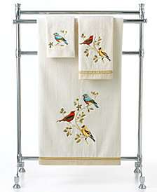"Avanti Bath Towels, Gilded Birds 13"" Square Washcloth"