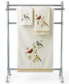 Avanti Bath Towels, Gilded Birds Collection