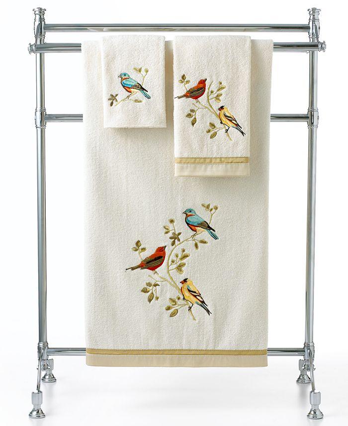 "Avanti - Gilded Birds 13"" Square Washcloth"