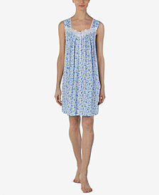 Eileen West Printed Short Nightgown