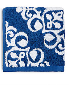Charter Club Elite Fashion Medallion Cotton Wash Towel, Created for Macy's
