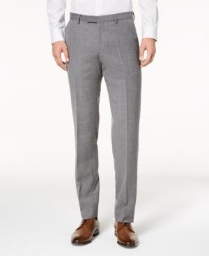 f05213cb229 Hugo Men s Modern-Fit Light Gray Patterned Suit Pants - Light Grey