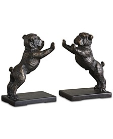 Bulldogs Set of 2 Cast Iron Bookends