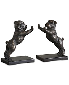 Uttermost Bulldogs Set of 2 Cast Iron Bookends