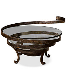 Uttermost Duff Glass & Metal Decorative Bowl