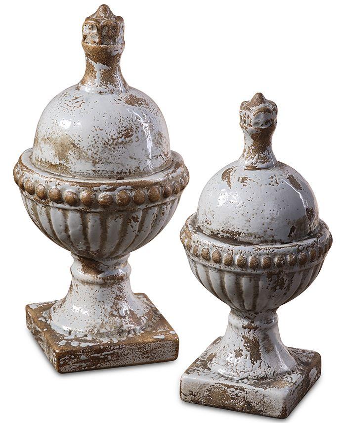 Uttermost - Sini Ceramic Finials, Set of 2