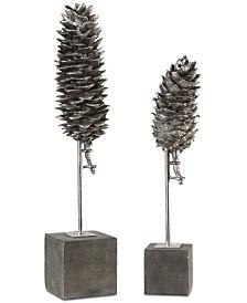 Uttermost Longleaf Pine Cone Sculptures, Set of 2