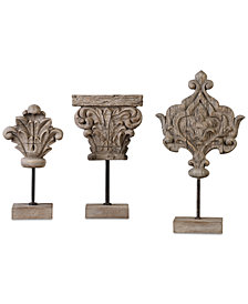 Uttermost Marta Wood Sculptures, Set of 3