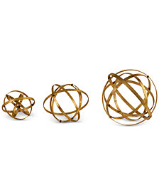 Uttermost Stetson Gold Spheres, Set of 3