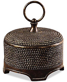 Uttermost 2-Pc. Aubriana Distressed Decorative Lidded Box