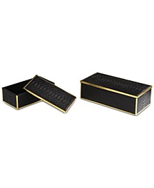 Ukti Alligator Patterned Boxes, Set of 2