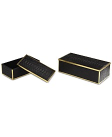 Uttermost Ukti Alligator Patterned Boxes, Set of 2