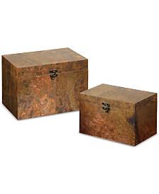 Uttermost Ambrosia Copper Boxes, Set of 2