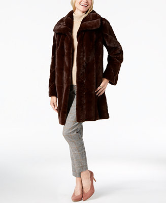 745d4197e9d Jones New York Faux-Fur Coat & Reviews - Coats - Women - Macy's