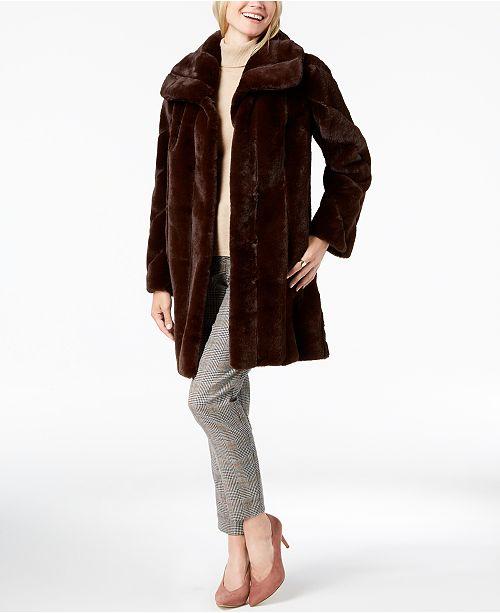 32235a8e86dd Jones New York Faux-Fur Coat & Reviews - Coats - Women - Macy's
