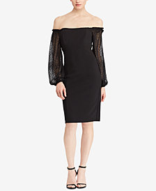 Lauren Ralph Lauren Off-The-Shoulder Dress