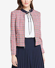 Tommy Hilfiger Plaid Zip-Up Jacket