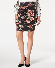 Alfani Petite Printed Pull-On Skirt, Created for Macy's