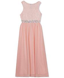 Rare Editions Big Girls Embellished-Waist Maxi Dress
