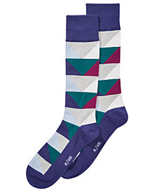 AlfaTech by Alfani Men's Abstract Triangle Socks, Created for Macy's