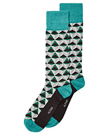 AlfaTech by Alfani Men's Triangles Dress Socks, Created for Macy's