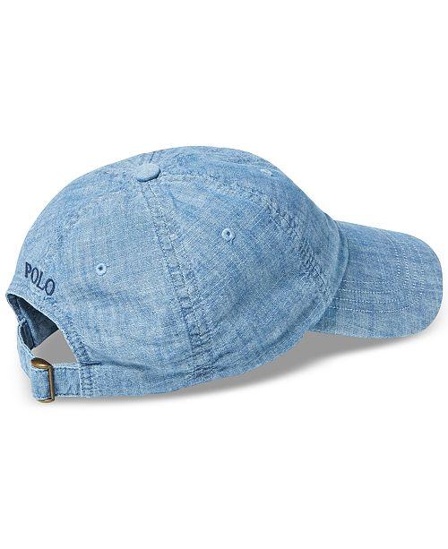 e772101dcc5 Polo Ralph Lauren Men s Chambray Sports Cap - Hats