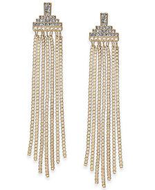 Thalia Sodi Gold-Tone Crystal & Chain Tassel Linear Drop Earrings, Created for Macy's