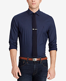 Polo Ralph Lauren Men's Slim Fit Cotton Paisley Dot Shirt