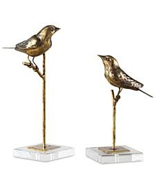 Passerines Set of 2 Bird Sculptures